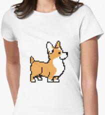 Karamell Corgi Tailliertes T-Shirt für Frauen