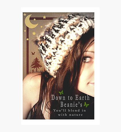 Down to Earth Beanie's Photographic Print