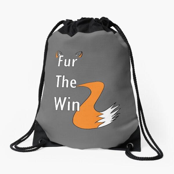 Fur The Win - Furry Fandom Drawstring Bag
