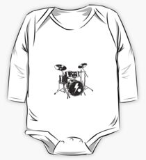 I'm A Drummer Dad But Way Cooler Funny Musician One Piece - Long Sleeve