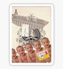 "Original Collage Art - ""Priceless"" Sticker"