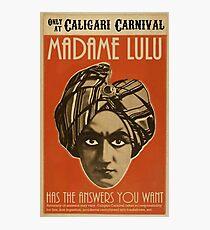 Lámina fotográfica Cartel ASOUE: Madame Lulu