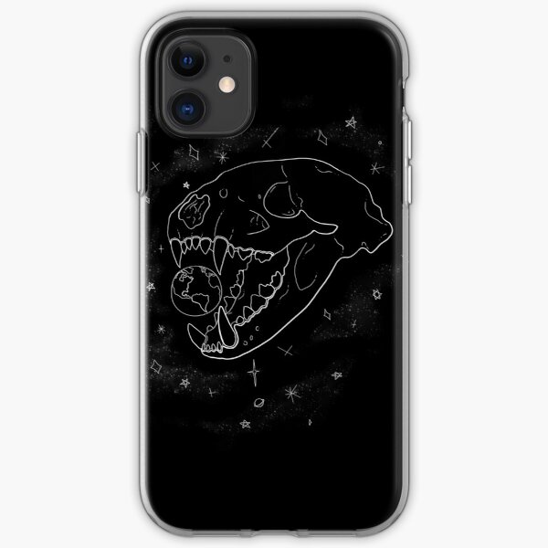 Canine Skull & Earth iPhone Soft Case