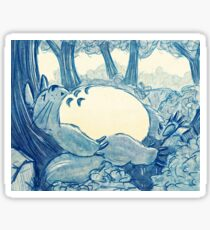 Sleepy Totoro Sticker