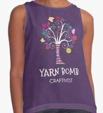 Yarn Bomb Craftivist Colorful T-shirt for Knitters Contrast Tank