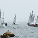 Foggy day at the race_coming back to shore! by Poete100