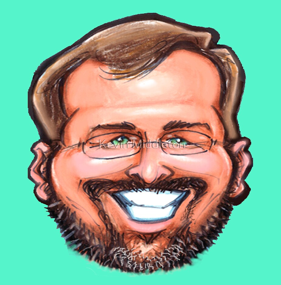 Self Caricature Portrait by Kevin Middleton