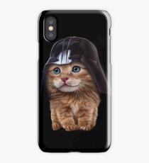 Fluffy Siamese Cat Wearing Darth Helmet iPhone Case