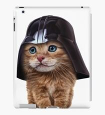 Fluffy Siamese Cat Wearing Darth Helmet iPad Case/Skin