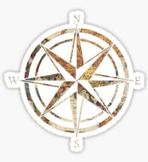 Wanderlust Compass Sticker