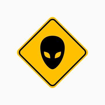 Alien Head Road Sign by ecaggiani