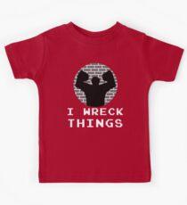 I Wreck Things by Last Petal Tees Kids Tee