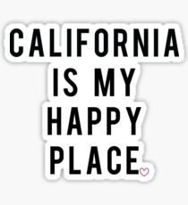 California Happy Place Sticker