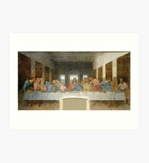 The Last Supper by Leonardo Da Vinci  Art Print
