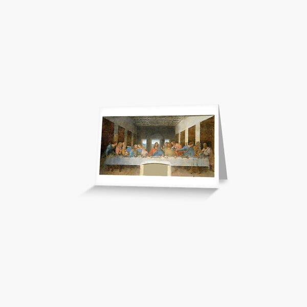 The Last Supper by Leonardo Da Vinci  Greeting Card