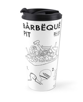 Bbbq Pit Simpsons Ikea Instructions Travel Mugs By Shabbadoo2