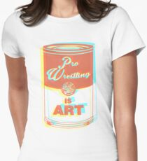 Pro Wrestling is Art (3D) Women's Fitted T-Shirt