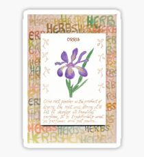 Water Colour Orris - Herbal  Sticker
