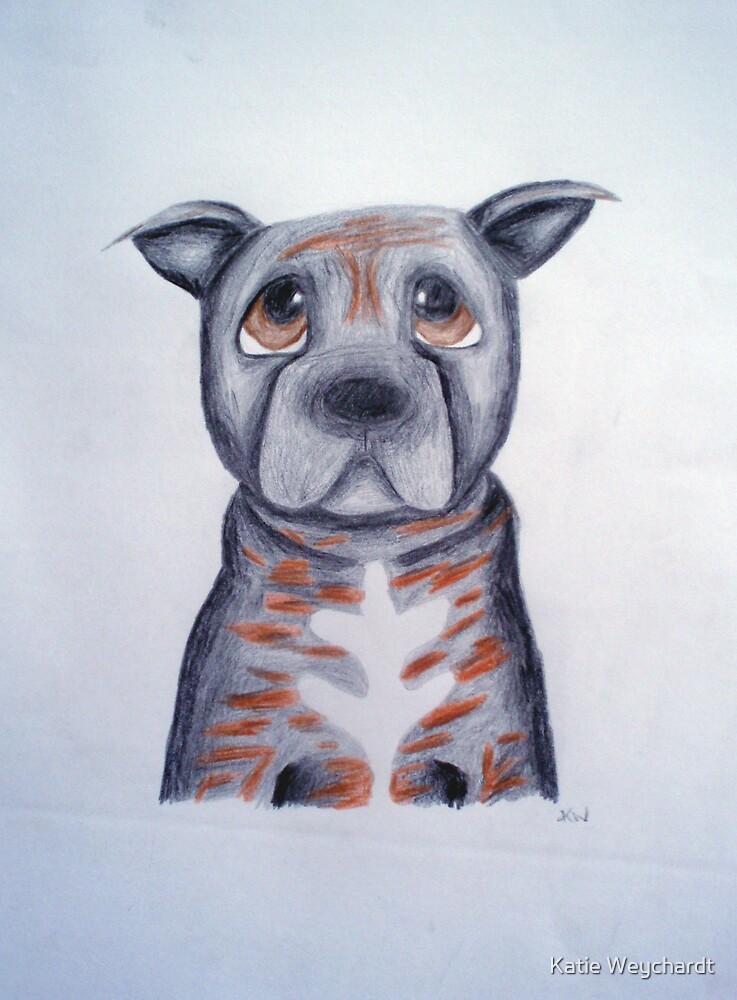 Buffy the Staffordshire Bull Terrier by Katie Weychardt
