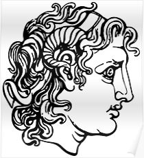 alexander the great drawing posters redbubble