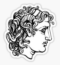 alexander the great drawing stickers redbubble
