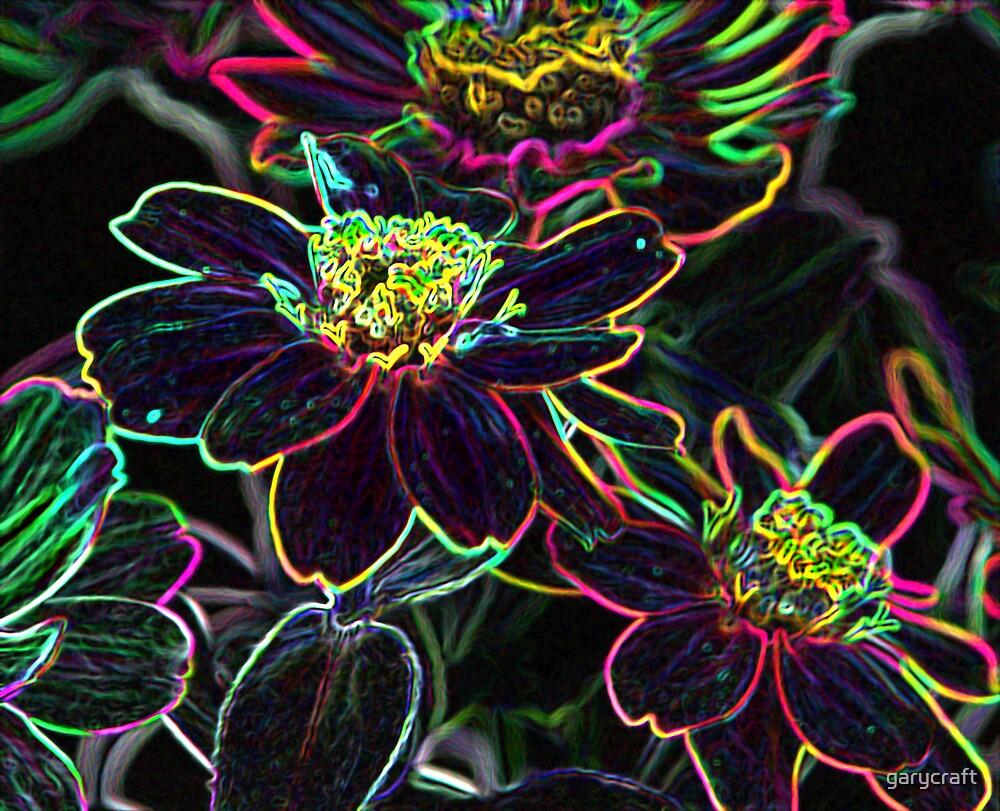 NEON EDGE FLOWES by garycraft