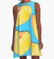 Summer Peach Slice A-Line Dress