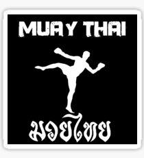 Muay Thai kick Sticker
