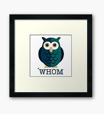 To *Whom Are You Referring? Framed Print