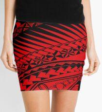 Mix Polynesian Designs Mini Skirt