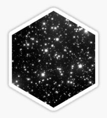 Space - Black Cosmic Stars Universe Design Sticker