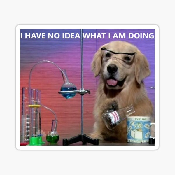 Chemistry Dog Meme Sticker