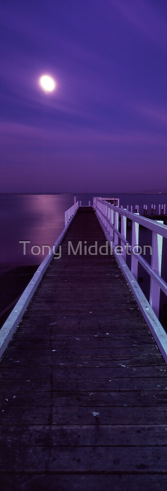 piering at the moon by Tony Middleton