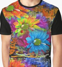 Floral Abstract Garden Graphic T-Shirt