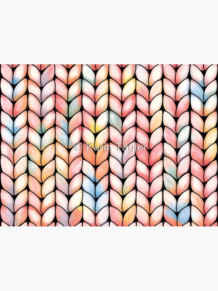 Chunky Rainbow Knit by karin