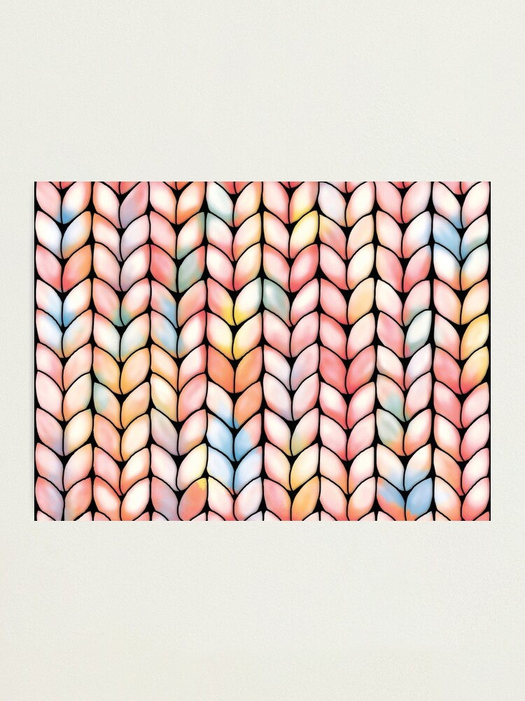 Alternate view of Chunky Rainbow Knit Photographic Print