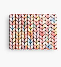 Chunky Rainbow Knit Canvas Print