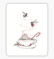 Peppermint Bumble Bee Sticker