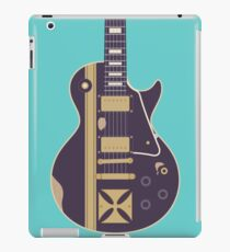 James Hetfield Gibson Les Paul Iron Cross Guitar (Teal) iPad Case/Skin