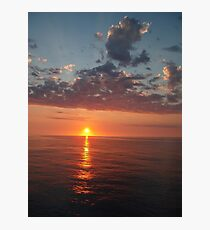 sun dancing on the ocean. Photographic Print