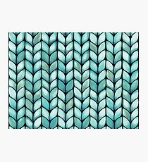 Chunky Mint Knit Photographic Print