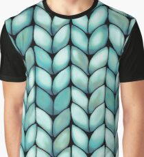 Chunky Mint Knit Graphic T-Shirt