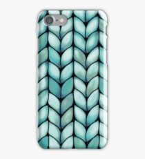 Chunky Mint Knit iPhone Case/Skin