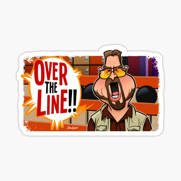 Over the Line Sticker