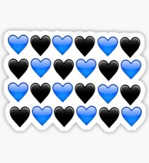 blue heart emoji stickers redbubble