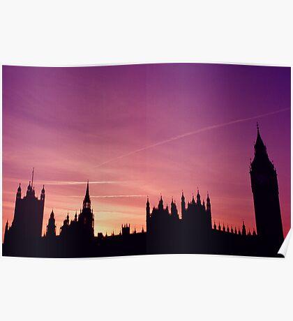 Big Ben skyline Poster
