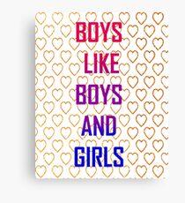 BOYS BOYS GIRLS Canvas Print