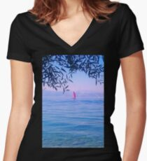 sailing Women's Fitted V-Neck T-Shirt