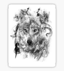 Wolf Up In Smoke Sticker