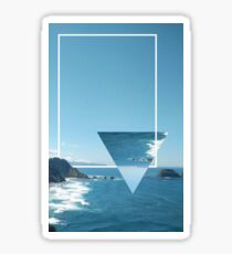 Pacific Coast Geometric Sticker